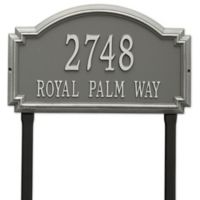 Whitehall Products Williamsburg Two Line Lawn Plaque in Pewter/Silver