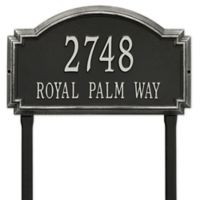 Whitehall Products Williamsburg Two Line Lawn Plaque in Black/Silver