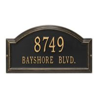 Whitehall Products Standard 2-Line Providence Arch Wall Address Plaque in Black/Gold