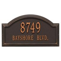 Whitehall Products Standard 2-Line Providence Arch Wall Address Plaque in Antique Copper
