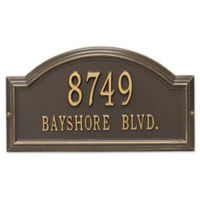 Whitehall Products Standard 2-Line Providence Arch Wall Address Plaque in Bronze/Gold