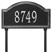 Whitehall Products Providence Arch 1-Line Standard Lawn Plaque in Black/Silver