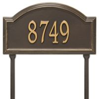 Whitehall Products Providence Arch 1-Line Standard Lawn Plaque in Bronze/Gold