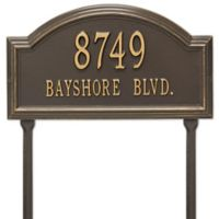 Whitehall Products 2-Line Standard Lawn Providence Arch in Bronze/Gold