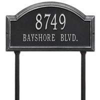 Whitehall Products 2-Line Standard Lawn Providence Arch in Black/Silver