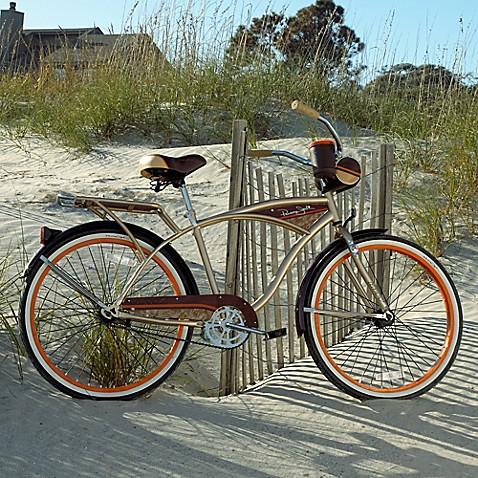 Panama Jack Men S Cruiser Bike In Orange Bed Bath Beyond