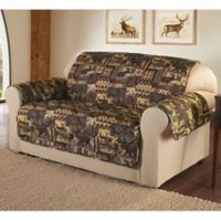 Lodge Loveseat Cover in Brown