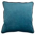 Sherry Kline Richmond Velvet Square Throw Pillow in Ocean Blue