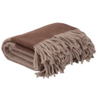 Nottingham Home Collection Australian Wool Throw Blanket in Brown