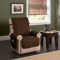 Faux Leather Recliner and Wing Chair Protector Brown