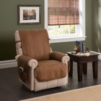 Faux Leather Recliner and Wing Chair Protector Cognac
