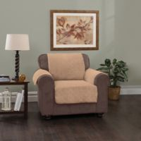 Plush Stripe Chair Cover in Camel