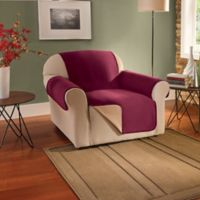 Innovative Textile Solutions Fleece Waterproof Reversible Chair Protector in Burgundy