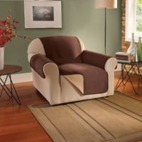 Innovative Textile Solutions Fleece Waterproof Reversible Chair Protector in Chocolate