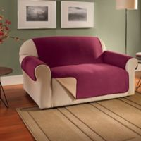 Innovative Textile Solutions Fleece Waterproof Reversible Loveseat Protector in Burgundy