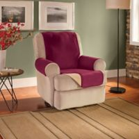 Innovative Textile Solutions Fleece Waterproof Reversible Recliner/Wing Chair Protector in Burgundy
