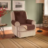 Innovative Textile Solutions Fleece Waterproof Reversible Recliner/Wing Chair Protector in Chocolate
