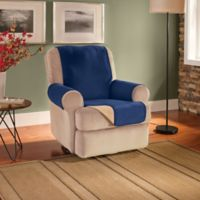 Innovative Textile Solutions Fleece Waterproof Reversible Recliner/Wing Chair Protector in Navy