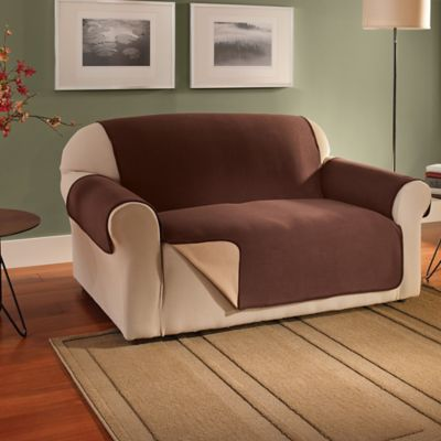 Innovative Textile Solutions Fleece Waterproof Reversible Sofa Protector In  Chocolate