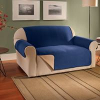 Innovative Textile Solutions Fleece Waterproof Reversible Sofa Protector in Navy