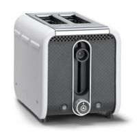 Dualit® Stainless Steel 2-Slice Studio Toaster in White/Grey