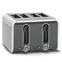 Dualit® Stainless Steel 4-Slice Studio Toaster in White/Grey