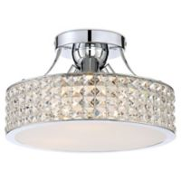 Quoizel Platinum Alexa 3-Light Semi-Flush Mount Ceiling Light in Chrome