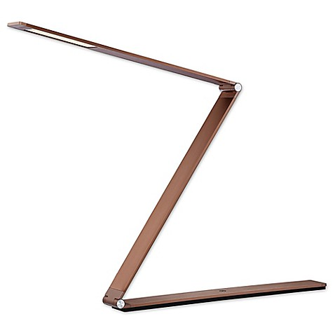 Buy Quoizel Crossway LED Table Lamp In Rose Gold From Bed