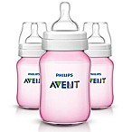 Philips Avent 3-Pack 9 Oz. Polypropylene Wide-Neck Anti-Colic Bottle in Pink