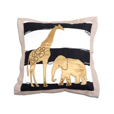 The Peanut Shell@ Safari Giraffe Throw Pillow