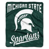 Michigan State Raschel Throw