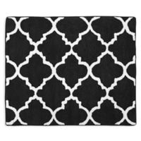 Sweet Jojo Designs Trellis Floor Rug in Black/White