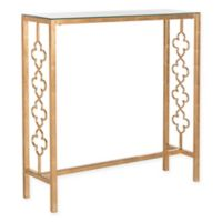 Safavieh Iron Jovanna Leaf Console Table in Gold