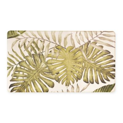 Tropical 18 Inch X 30 Inch Cushioned Kitchen Rug