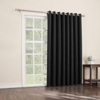 Sun Zero Mariah 84-Inch Room-Darkening Extra-Wide Grommet Patio Door Panel in Black