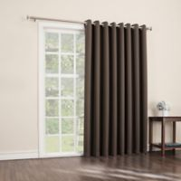 Sun Zero Mariah 84-Inch Room-Darkening Extra-Wide Grommet Patio Door Panel in Chocolate