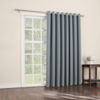 Sun Zero Mariah 84-Inch Room-Darkening Extra-Wide Grommet Patio Door Panel in Mineral