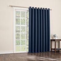 Sun Zero Mariah 84-Inch Room-Darkening Extra-Wide Grommet Patio Door Panel in Navy