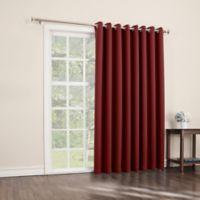Sun Zero Mariah 84-Inch Room-Darkening Extra-Wide Grommet Patio Door Panel in Red