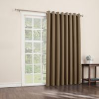 Sun Zero Mariah 84-Inch Room-Darkening Extra-Wide Grommet Patio Door Panel in Taupe