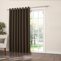 Sun Zero Bella 84-Inch Room-Darkening Extra-Wide Grommet Patio Door Panel in Chocolate
