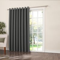 Sun Zero Bella 84-Inch Room-Darkening Extra-Wide Grommet Patio Door Panel in Grey