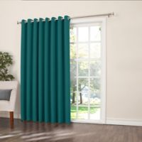 Sun Zero Bella 84-Inch Room-Darkening Extra-Wide Grommet Patio Door Panel in Marine