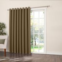 Sun Zero Bella 84-Inch Room-Darkening Extra-Wide Grommet Patio Door Panel in Mocha
