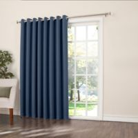 Sun Zero Bella 84-Inch Room-Darkening Extra-Wide Grommet Patio Door Panel in Navy