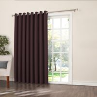 Sun Zero Bella 84-Inch Room-Darkening Extra-Wide Grommet Patio Door Panel in Plum