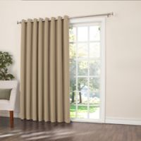 Sun Zero Bella 84-Inch Room-Darkening Extra-Wide Grommet Patio Door Panel in Taupe