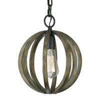 Feiss® Allier Single-Light Indoor Pendant in Weather Oak Wood
