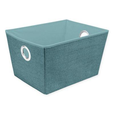 Simplify Medium Grommet Storage Tote In Blue
