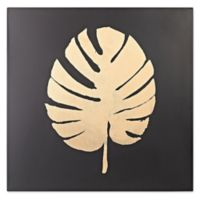 Metallic Palm Frond on Black Wall Art